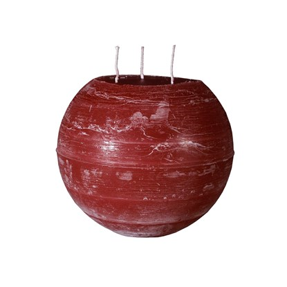 Svíčka koule se třemi knoty 20 cm_0