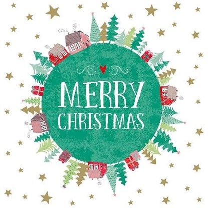 Přání malé Merry Christmas Weltkugel_0