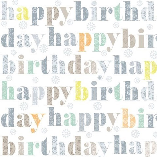 Papír. ubrousek 33x33cm Happy Birthday t_0