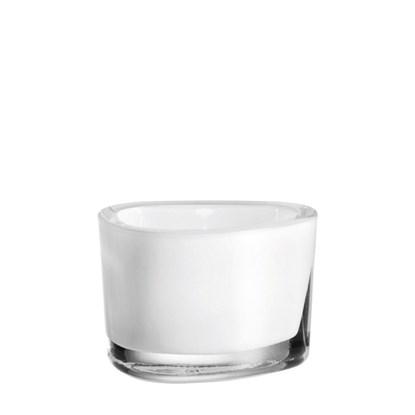 Svícen ORGANIC  pro čajovou svíčku bílý_0