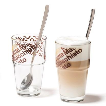 Sklenice na latte SOLO se lžič. SET/2ks_1