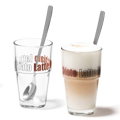 Sklenice na latte SOLO se lžič. SET/2ks_2