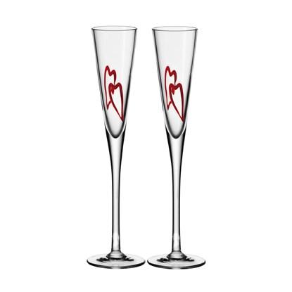 Skleničky na šampaňské HEART SET/2ks_1