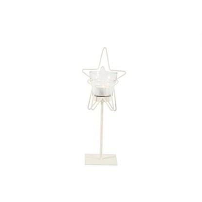 Svícen Delorise hvězda S bílý_0