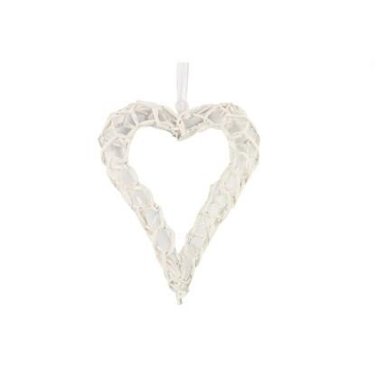 Dekorační srdce Casy S bílé_0