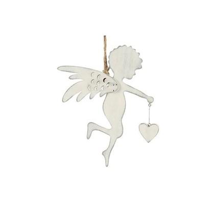 Anděl dřevěný na zavěšení 17.5cm_0