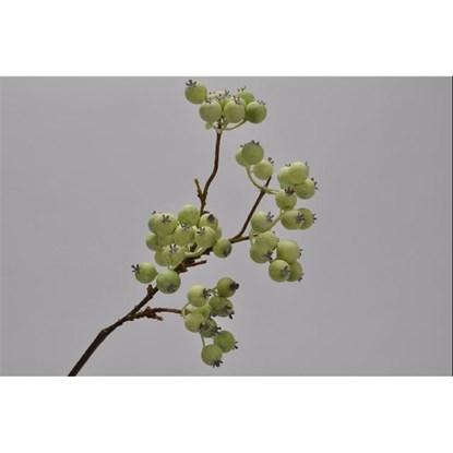 Větvička s bobulemi zelená 41 cm_0