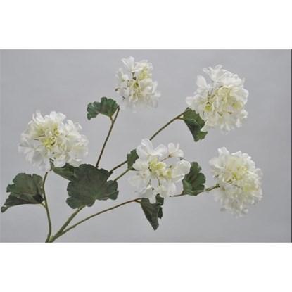 Větvička GERANIUM bílá 94 cm_0