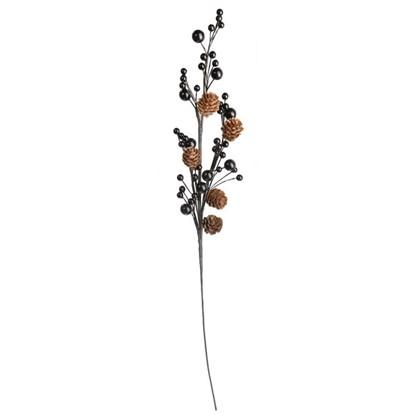 Větvička s bobulemi a šiškami 53 cm_0