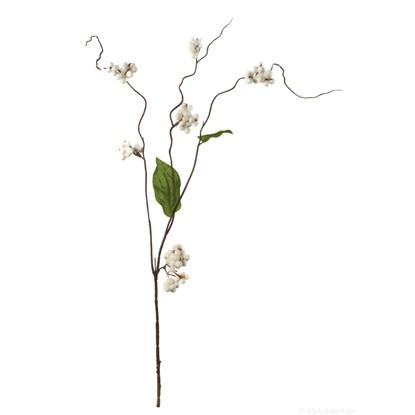 Větvička bobule 60 cm - bílá_0