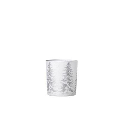 Svícen BRAGE 8cm stříbrný_0