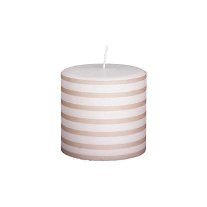 Svíčka STRIPE DH 84h růžovobílá_0