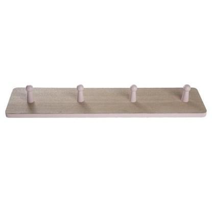 Dřevěný věšák se 4mi háčky_0