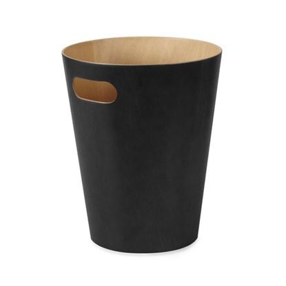 Odpadkový koš WOODROW 28 cm černá/přír._0