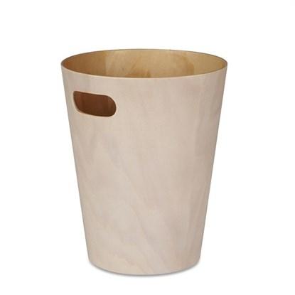 Odpadkový koš WOODROW 28 cm bílá/přír._0
