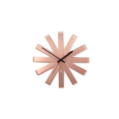 Nástěnné hodiny RIBBON 30 cm měděné_2