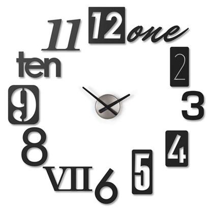 Nástěnné hodiny NUMBRA černé set/13ks_0