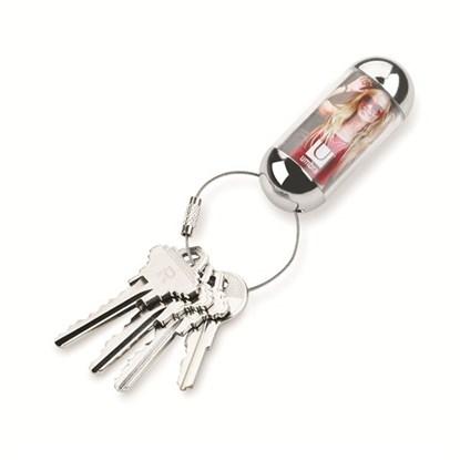 Přívěšek na klíče CHARM 6x3 cm chromový_2