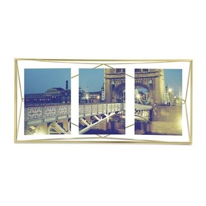 Fotorámeček PRISMA 48x23 cm mosazný_1