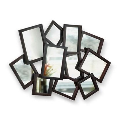 Zrcadlo MOSH 10x10 - 13x18 cm hnědé_1