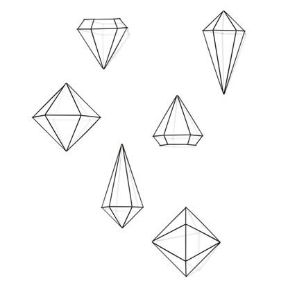 Dekorace PRISMA set/3ks černá_3