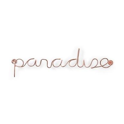 Dekorace na zeď PARADISE měděná_5
