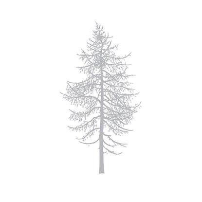 Papírové ubrousky WINTER TREE stříbrné_0