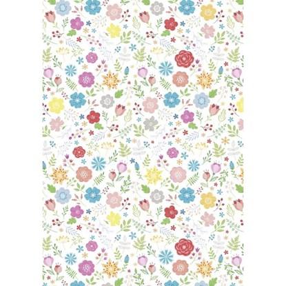 Balicí papír 70x100cm Blüten/multicolor_0