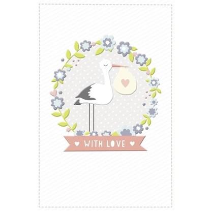 Přání foil baby stork_0