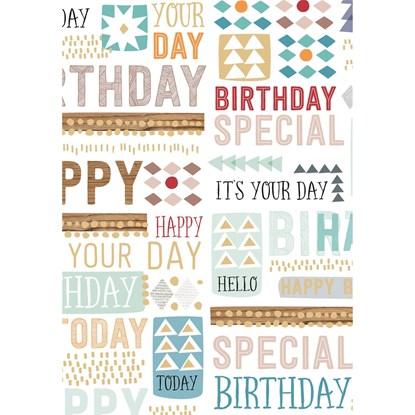 Balicí papír arch 70x100cm-Happy-Birthda_0