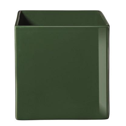 Květináč QUADRO 23x23 cm tmavě zelený_0