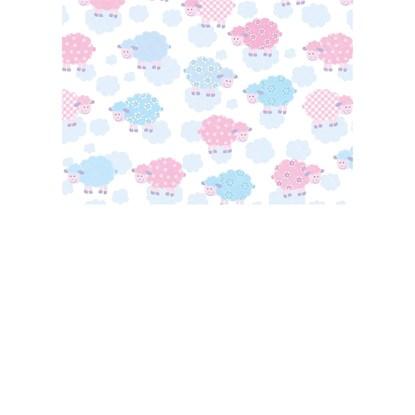 Balicí papír 50x70cm lamb baby pink baby_0