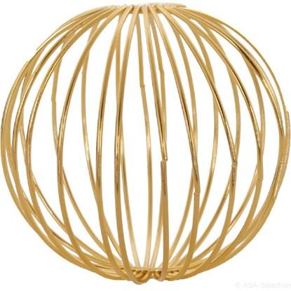 Dekorační koule 9 cm SET/3ks zlaté_0