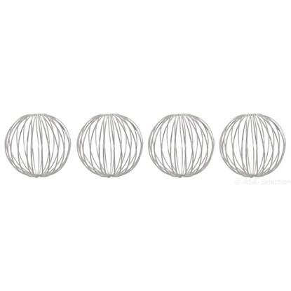 Dekorační koule 6 cm SET/4ks stříbrné_0