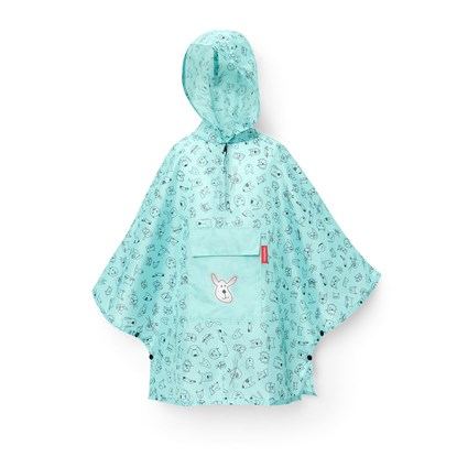 Skládací pláštěnka Mini Maxi Poncho M kids cats and dogs mint_3