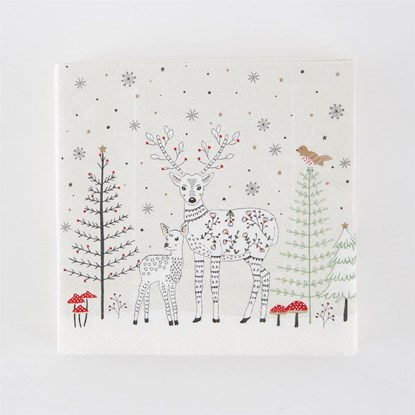 Papírový ubrousek Winter Forest Folk Dee_0
