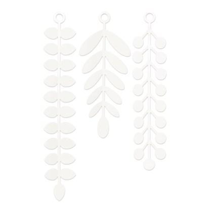 Nástěnná dekorace VINES bílá SET/18ks_4