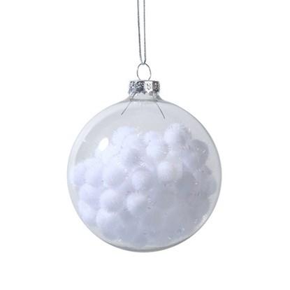 Vánoční koulička čirá, plněná sněh.kouli_0
