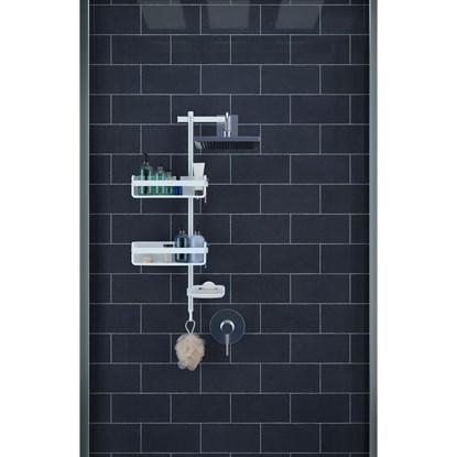 Polička do sprchy FLIPSIDE bílá_3