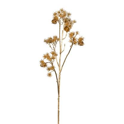 Větvička cedru 61 cm zlatá_0