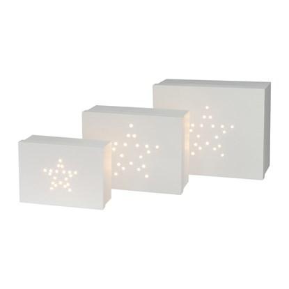 Geschenkbox rechteckig m.LED 3er Set Ste_1