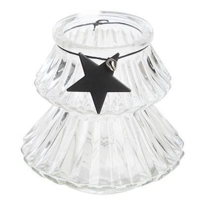 Svícen s hvězdou na čaj.svíčku 10,5 cm_0