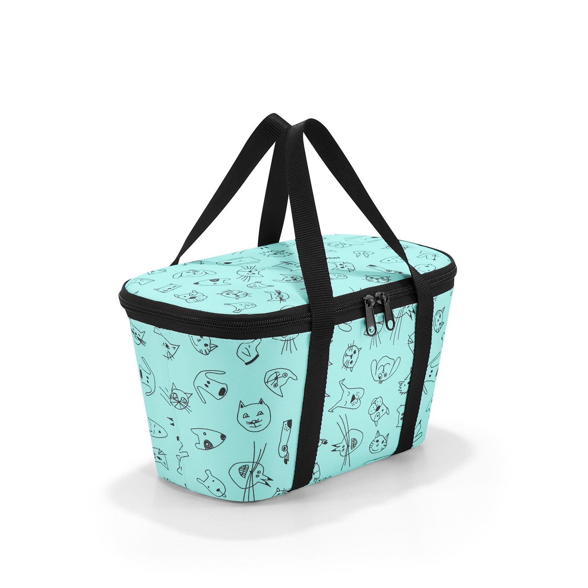 Termotaška COOLERBAG XS kids cats and dogs mint_1