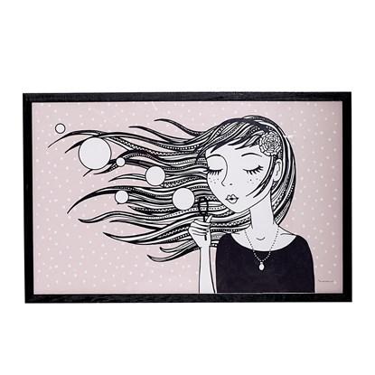 Dřevěný fotoráměček Girl_0