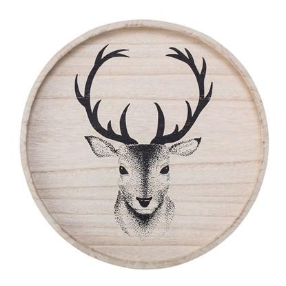 Dřevěný podnos s motivem jelena_1
