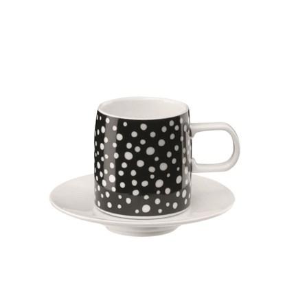 Šálek na espreso MUGA černé tečky_0