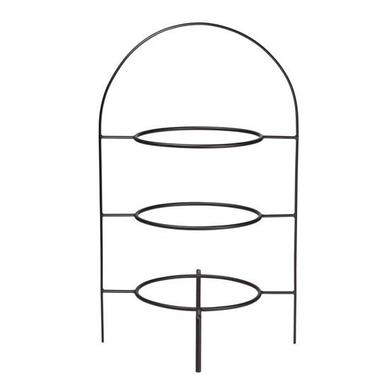 Etažér 3-patrový pro mělký talíř čer_0