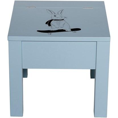 Stolička s úložným prostorem modrá_2
