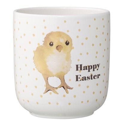 Květináč Happy Easter kuře bílý_0