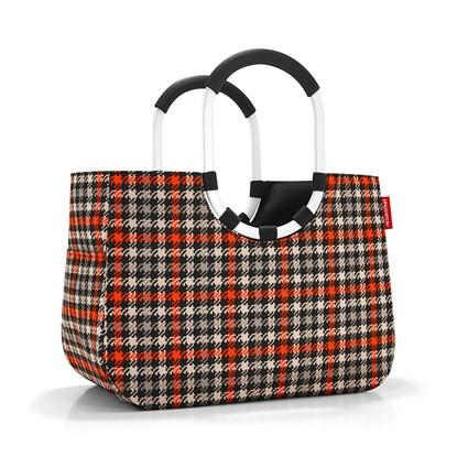 Nákupní taška LOOPSHOPPER L glencheck red_2